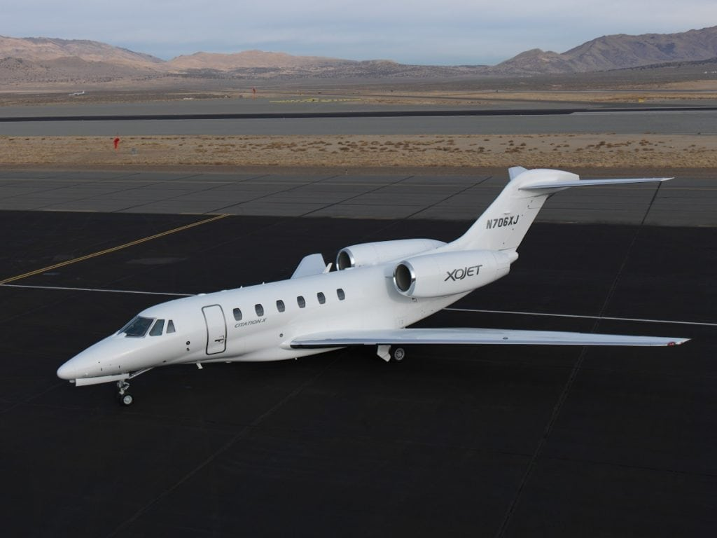 XOJet Cessna Citation X. Photo: XOJet.