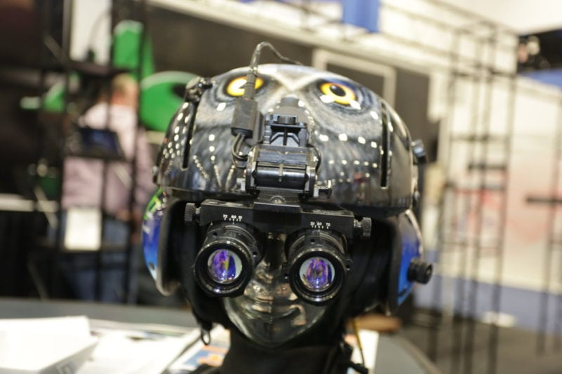 Aviation Specialities Unlimited night vision helmet.