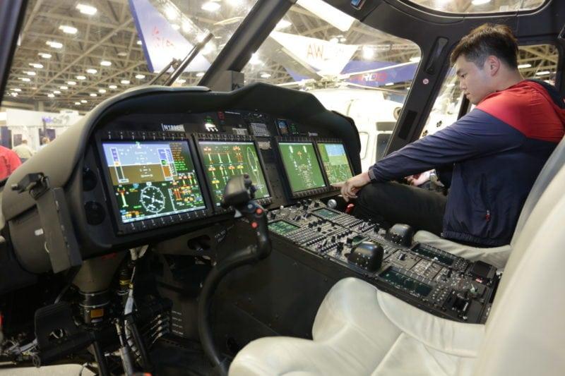 AW189 cockpit avionics suite.