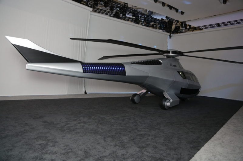 Bell's FCX-001 helicopter at Heli Expo 2017.