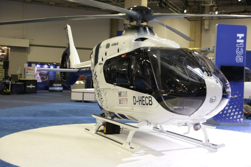H135 with Helionix avionics suite.
