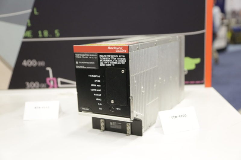 The Rockwell Collins TTR-4100 TCAS II computer.