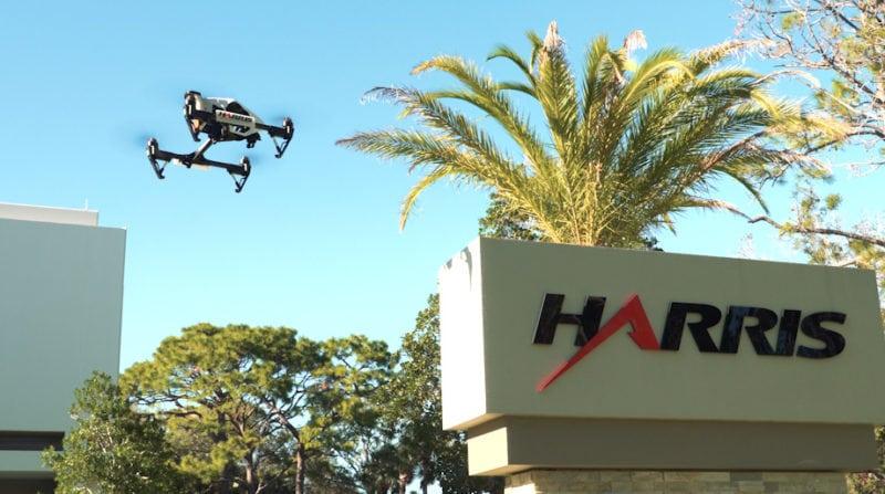 UAS flying near Harris Corp. headquarters. Photo: Harris Corp.