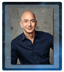 Jeff Bezos, founder of Blue Origin, and Founder & CEO of Amazon.