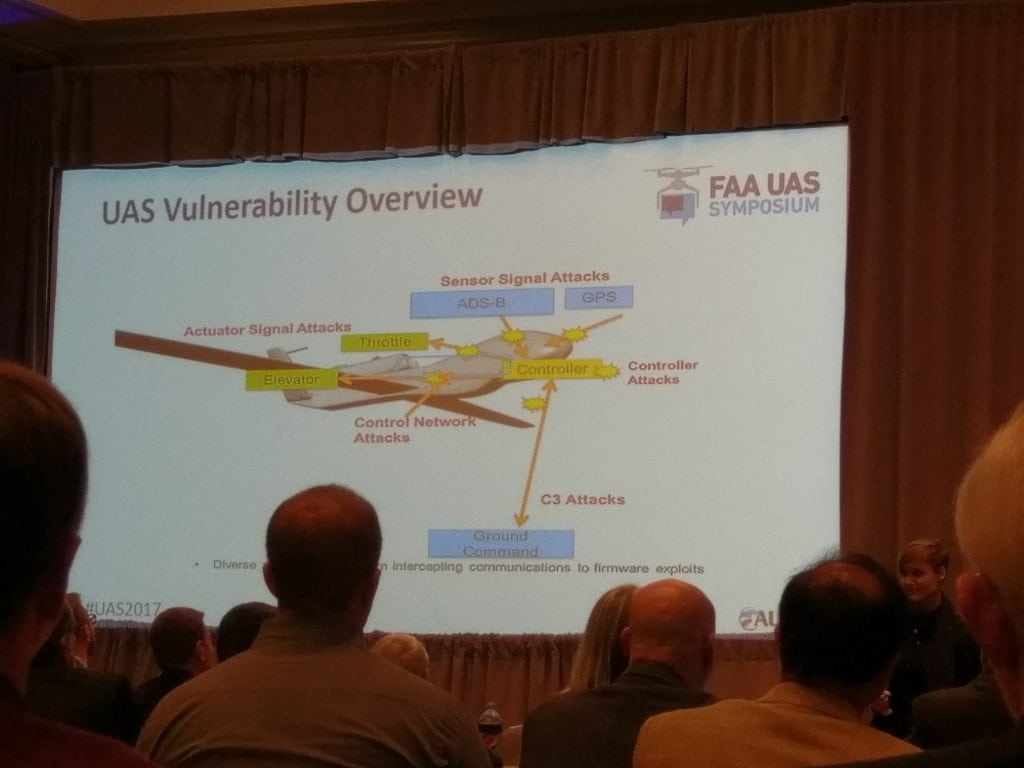 2017 FAA UAS Symposium attendees learn about vulnerabilities to cyber attacks