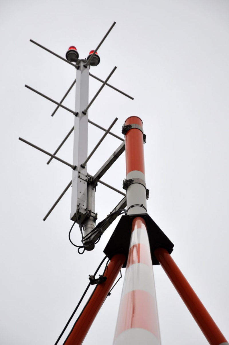 GBAS antenna at Frankfurt Airport. Photo: DFS.
