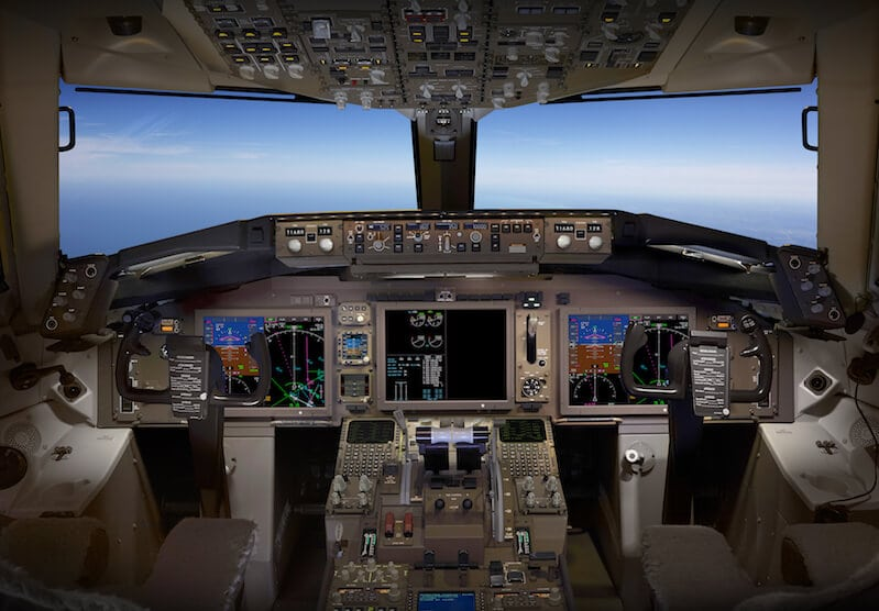 Boeing 757/767 cockpit display upgrades. Photo: Rockwell Collins.