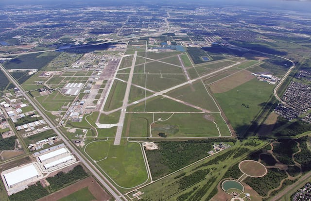 An aerial view of Ellington Airport, a mixed use airfield located in Houston, Texas. Photo: Houston Airports.