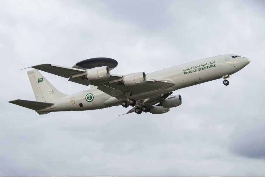 Boeing has supplied extensive radar upgrades for the Saudi Arabian Air Force fleet of Airborne Warning and Control System (AWACS) aircraft. (Boeing photo)