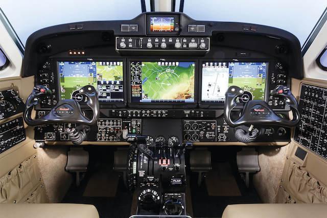 King Air 350i cockpit. Photo: Textron Aviation.