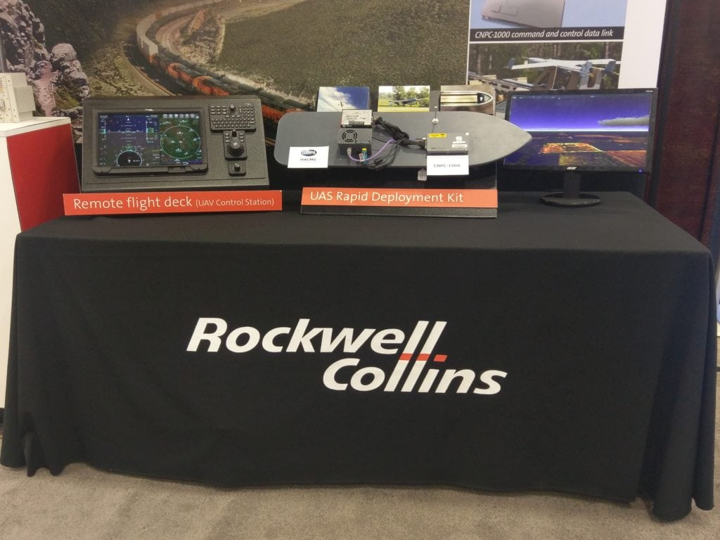 Rockwell Collins exhibits its UAS ground control station and other technologies at AUVSI Xponential 2017.