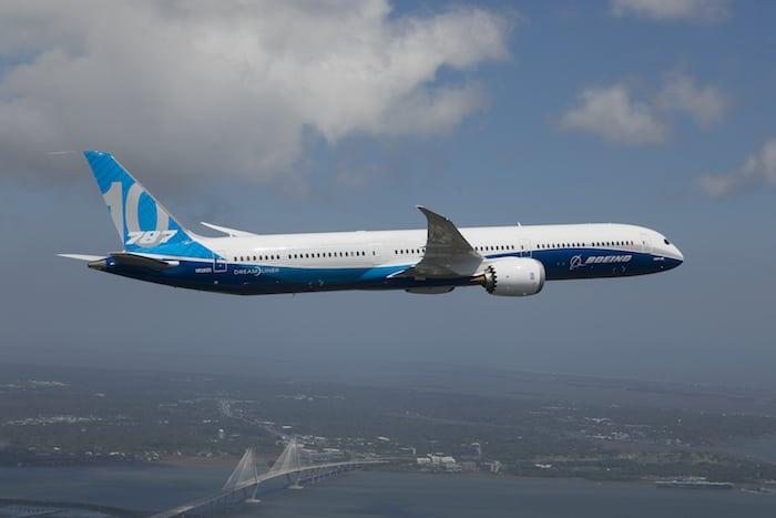 787-10 First Flight. Photo: Boeing.
