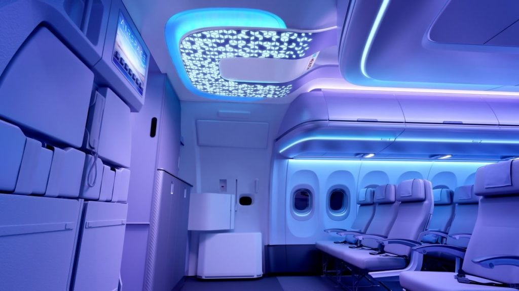 Airspace-cabin-A320neo-entrance-area-patterns-night