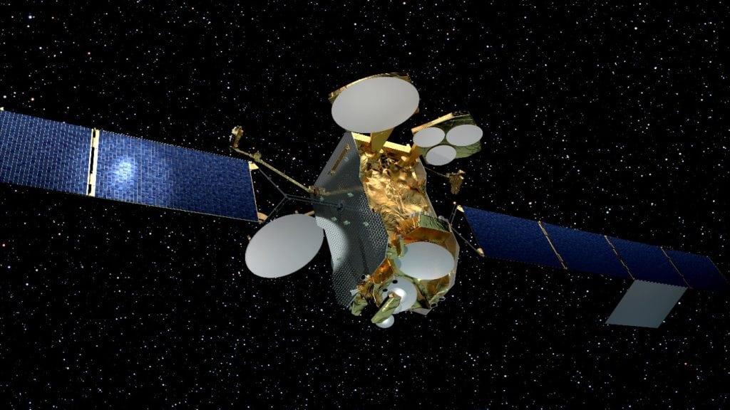 Eutelsat 172B satellite. Courtesy of Ariane Space/