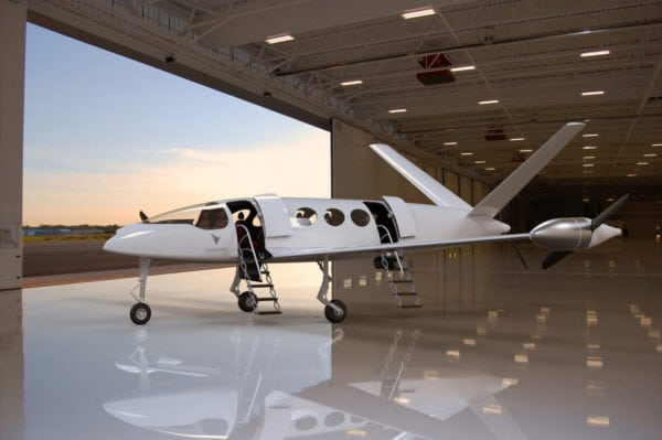 Eviation's all-electric aircraft. Photo:(PRNewsfoto/Eviation Aircraft Ltd.)