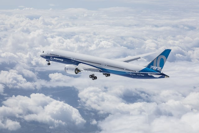 Boeing 787-10. Photo courtesy of Boeing