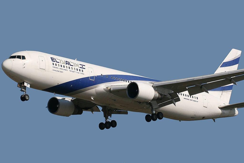 EL AL Israel Airlines Boing 767. Public domain photo.