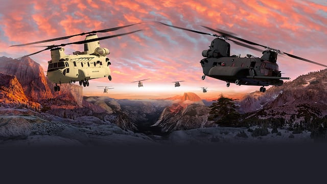 Boeing will build and test three U.S. Army CH-47F Block II Chinook helicopters as part of a modernization effort that will likely bring another two decades of work to the company's Philadelphia site. Photo: Boeing.