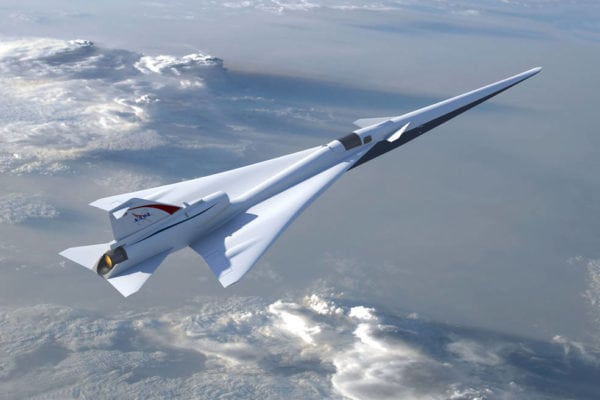 Illustration of NASA's planned Low Boom Flight Demonstration aircraft as outlined during the project's Preliminary Design Review. Photo: NASA / Lockheed Martin.