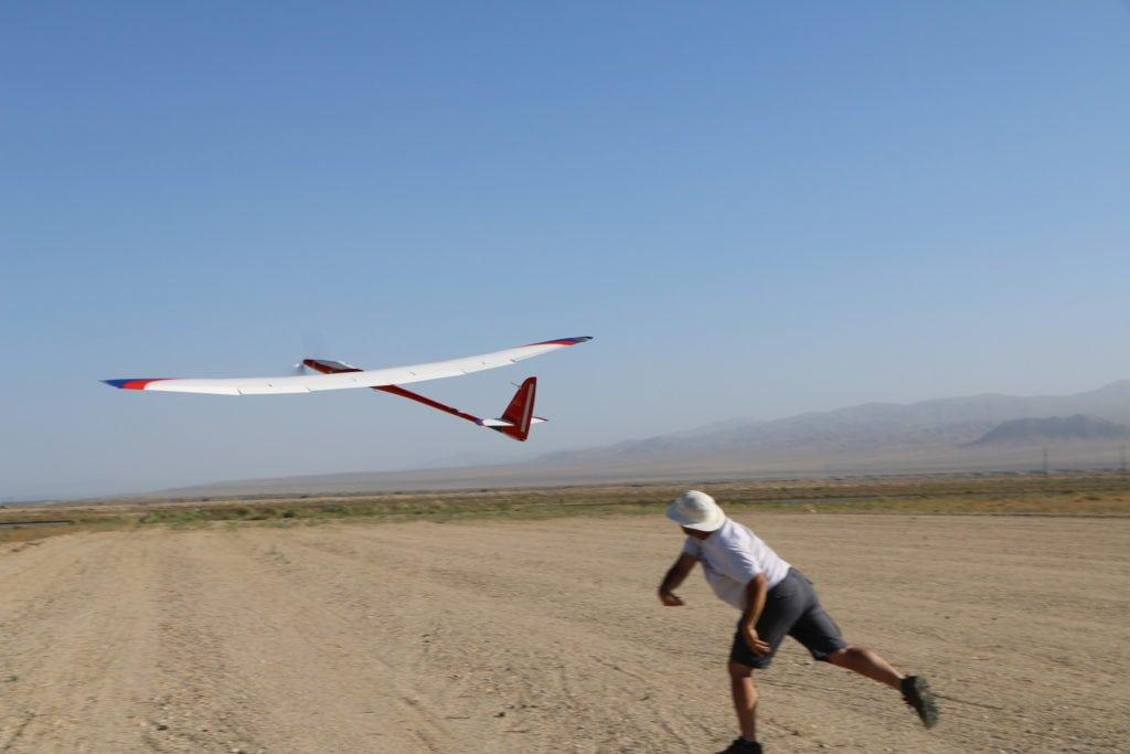 Manpowered Sailplane launch (PRNewsfoto/Nevada Institute for Autonomous)