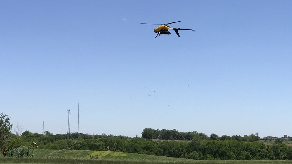 Rockwell Collins' CNPC-1000 Command and Control data link, integrated into a Pulse Aerospace Vapor 55, undergoes testing at the University of Iowa's OPL before embarking on a 10-mile flight beyond visual line of sight along power line infrastructure owned by Ameren Corp. near Newton, Illinois