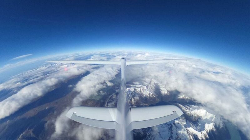 Perlan II at 30,000 feet. Photo courtesy of Airbus Perlan Project