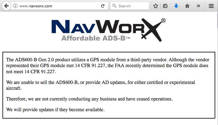 Screenshot taken Oct. 20, 2017, from navworx.com