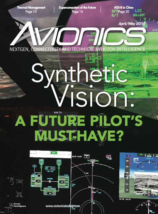 Avionics Magazine April/May 2018 Cover