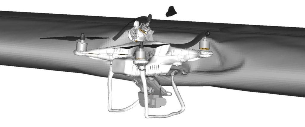 ASSURE Quadcopter Wing Impact