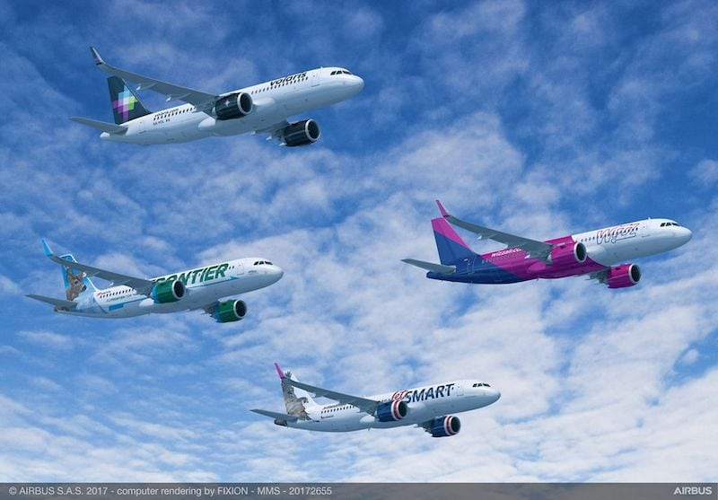 These four airlines are set to operate A320neos from Indigo Partners. Rendering by Fixion