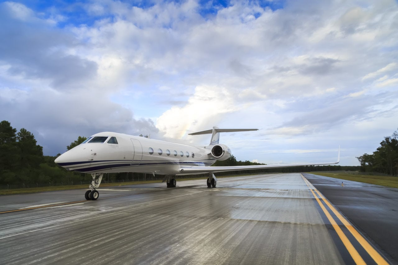 A Gulfstream G550, the user of the sustainable fuel sold. (Gulfstream)