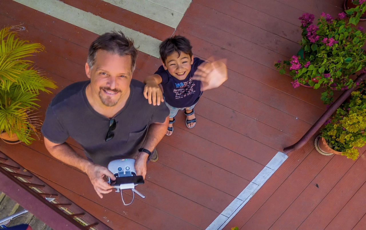 Drone flight over people