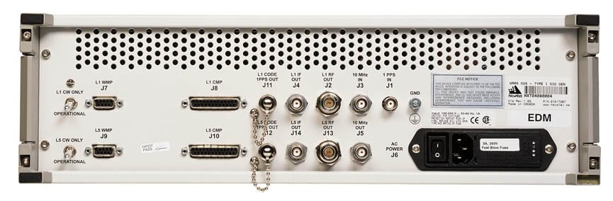 NovAtel GUS Signal Generator back
