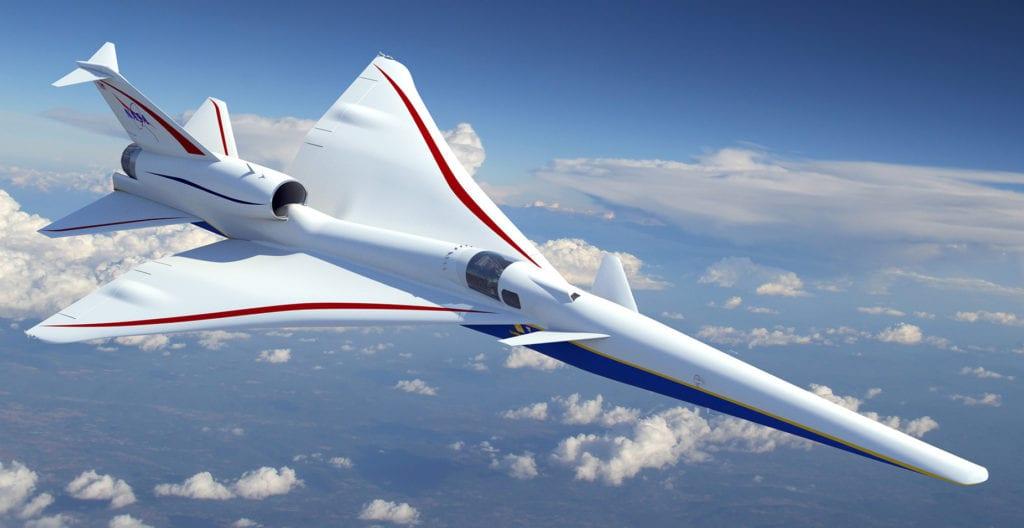 X-59 QueSST low-boom demonstrator design concept. (Lockheed Martin)