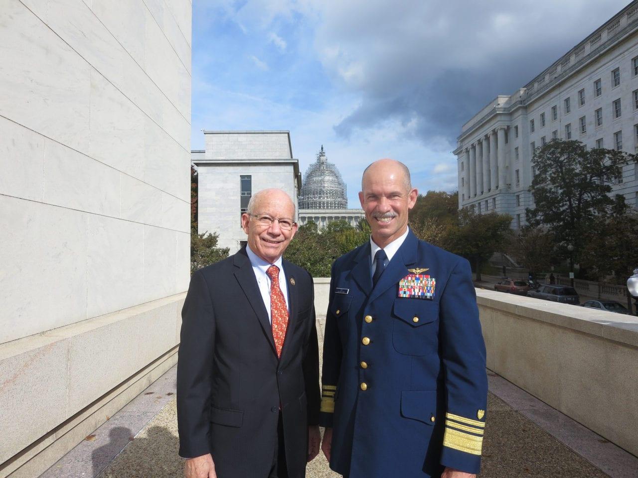 Congressman Peter DeFazio of Oregon with Admiral Charles W. Ray (Rep. DeFazio)