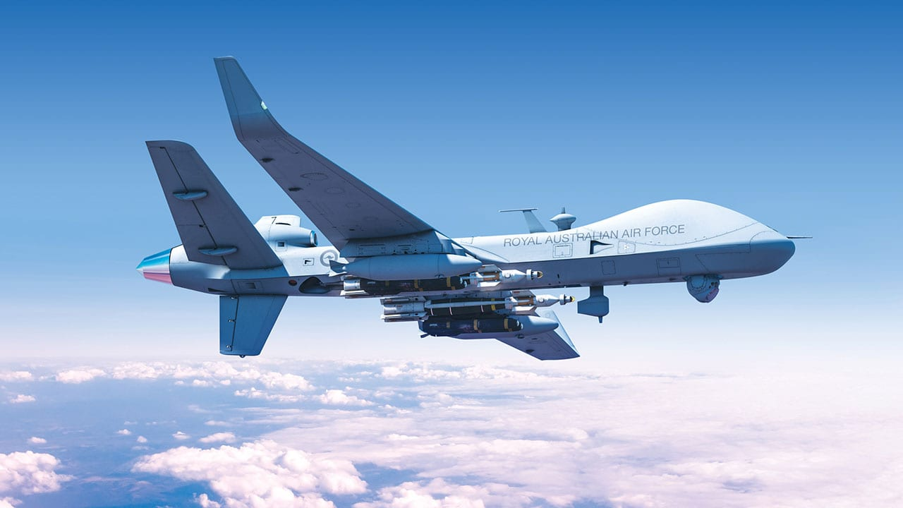 Imagery of a Royal Australian Air Force MQ-9B. (GA-ASI)