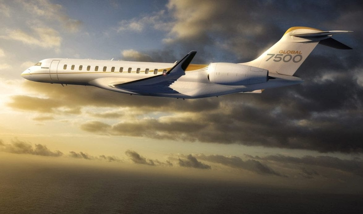 An image of the newly released Bombardier Global 7500 business jet. (Bombardier)