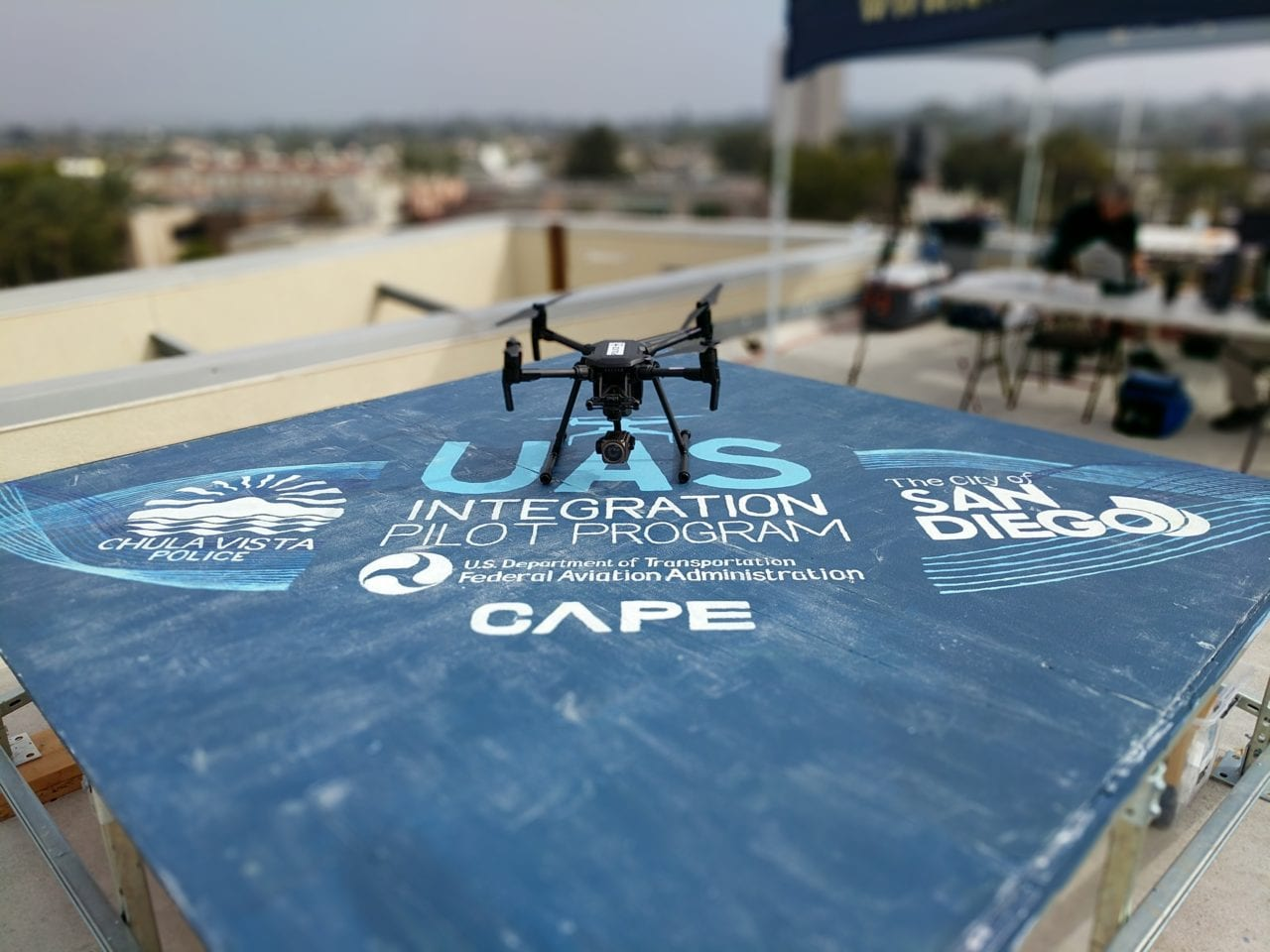 A Cape-equipped drone as part of the FAA's IPP. (Cape)