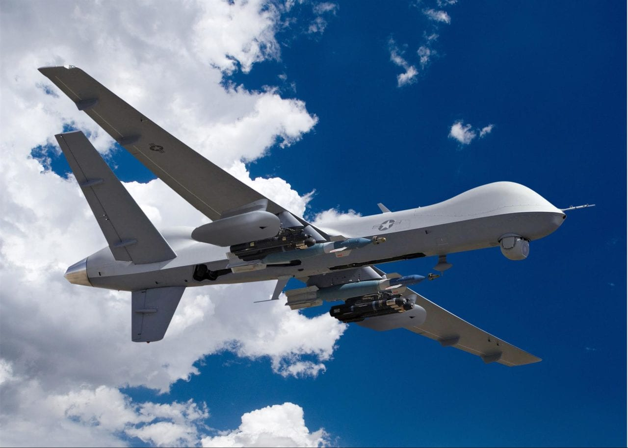 An MQ-9 Predator B with electronic warfare payload. (GA-ASI)