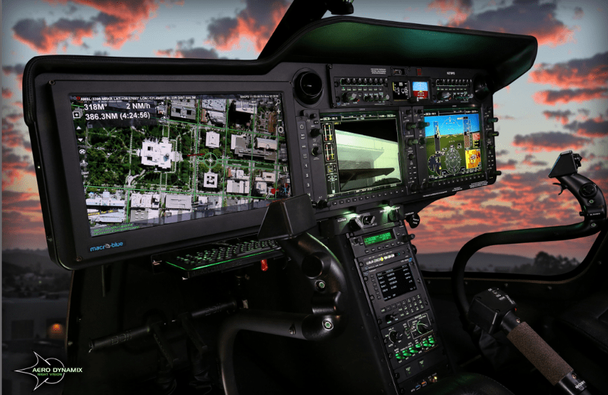 Aero Dynamix's lighting-enhanced flight deck. (Aero Dynamix)