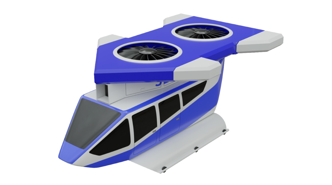 Concept imagery for the Jetcopter EVTOL vehicle. (Jetcopter)