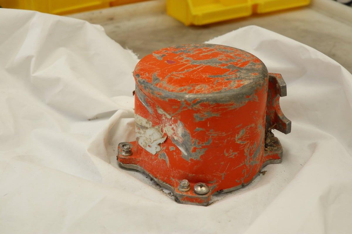 Ethiopian Airlines flight 302's recovered cockpit voice recorder. (Ethiopian Accident Investigation Bureau)