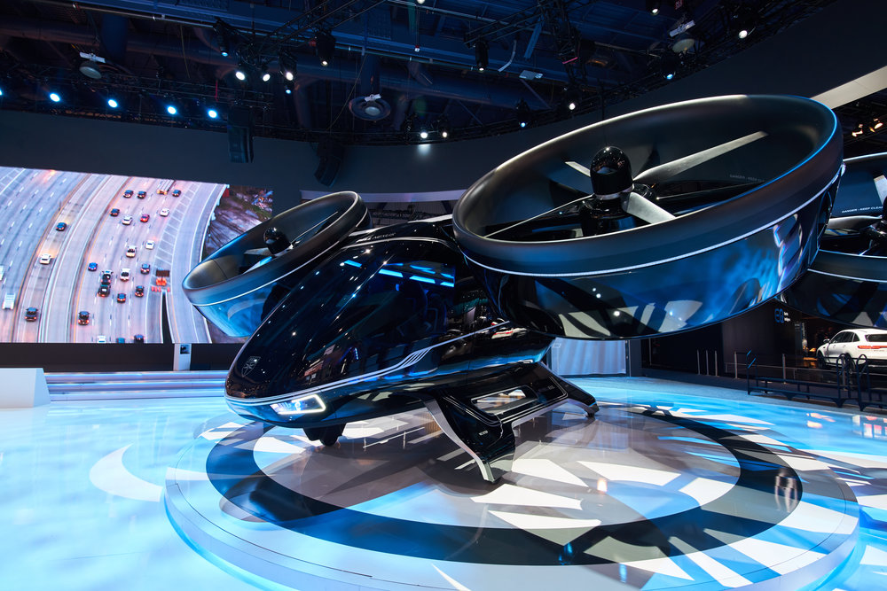 Bell's Nexus air taxi concept on display at CES 2019. (Bell)