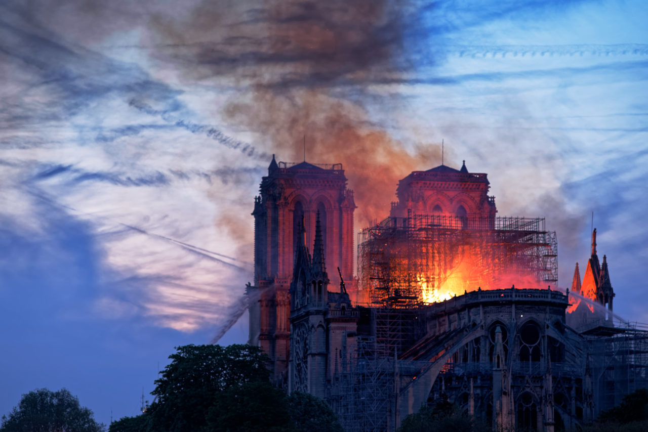 Notre-Dame Cathedral burning. (Louis ARAGON, CC)