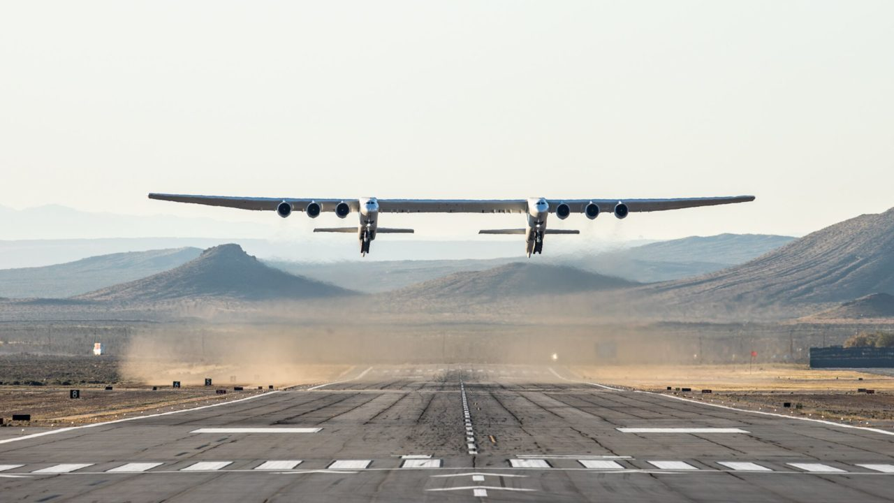 The Stratolaunch landing at Mojave Air and Space Port. (Stratolaunch)