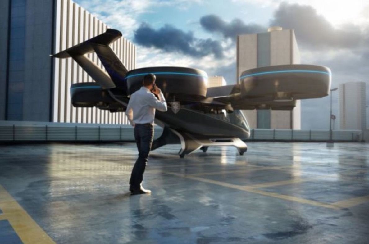 Bell's Nexus air taxi vehicle, being developed for Uber. (Bell)