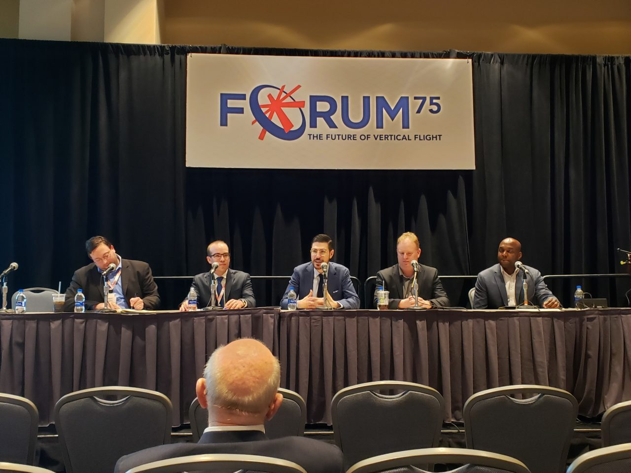 Vertical Flight Society Forum 75's panel on safety in unmanned air mobility. (Nick Zazulia/AVI)