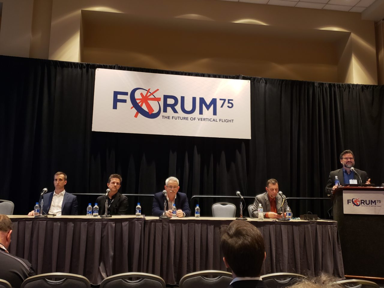 Uber's Mark Moore speaking at the VFS Forum in Philadelphia. (Nick Zazulia/AVI)