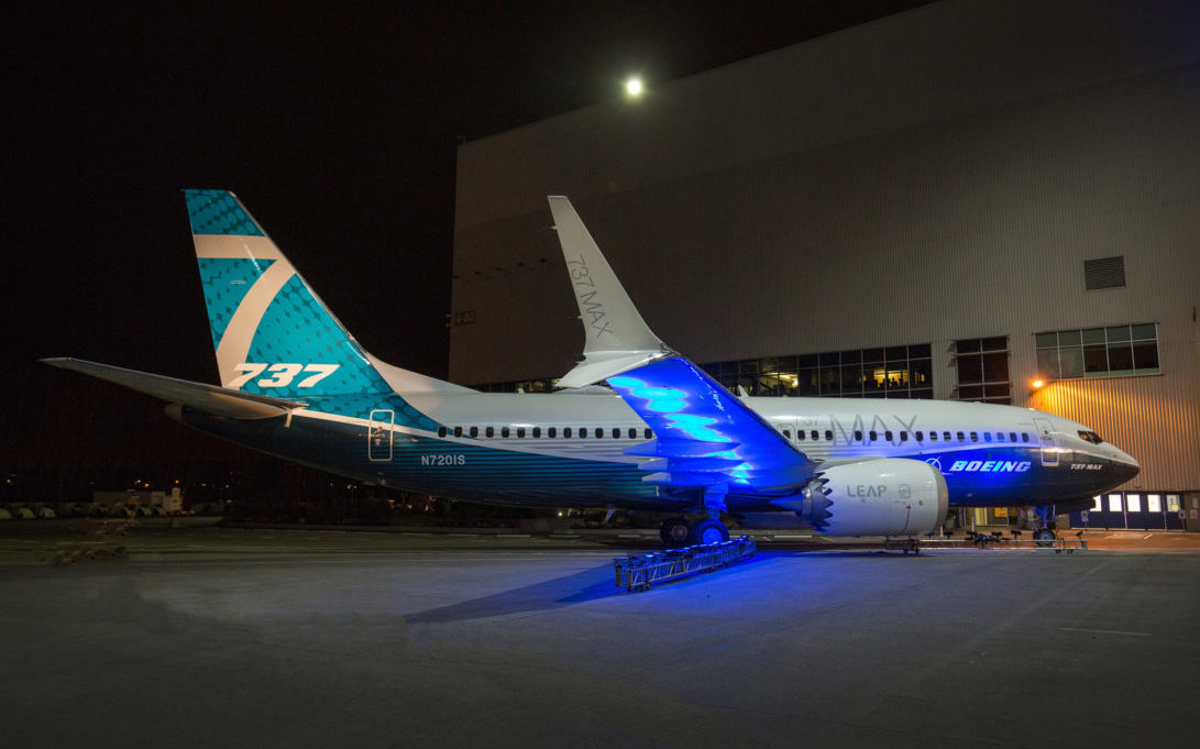 Boeing's debut 737 MAX-7. (Boeing)
