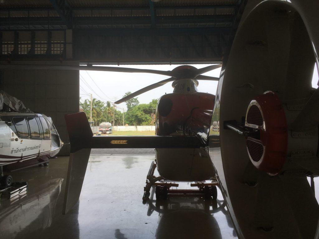 Inside the hangar of Airbus' MRO outside of Bangkok.